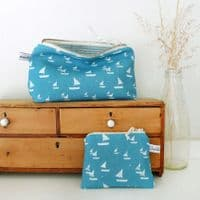 Sailboat Coin Zip Purse | Charlotte Macey